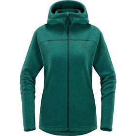 Haglöfs Swook Chaqueta con capucha Mujer, mineral solid